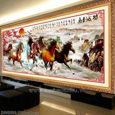 Tranh thêu kín Monalisa DW0593