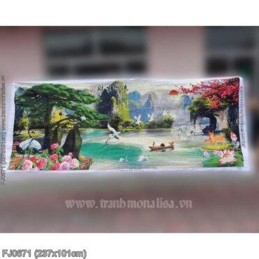 Tranh thêu kín Monalisa FJ0671