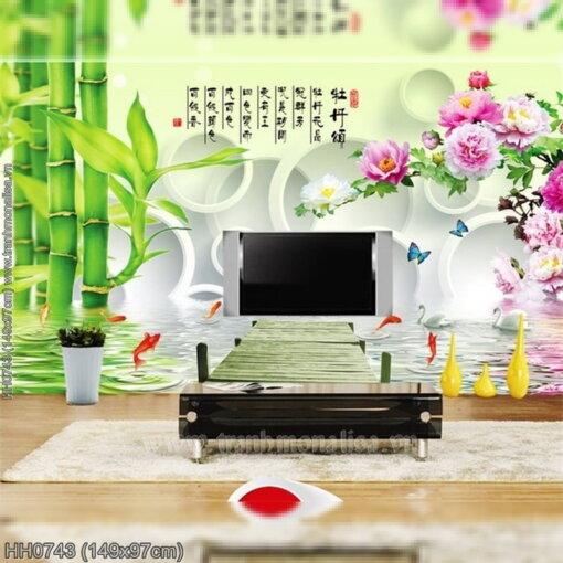 Tranh thêu kín Monalisa HH0743