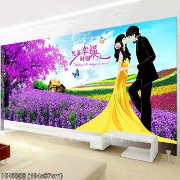 Tranh thêu kín Monalisa HH0806