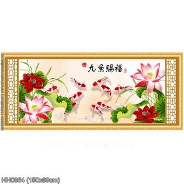 Tranh thêu kín Monalisa HH0864