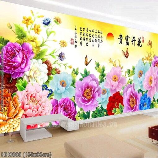 Tranh thêu kín Monalisa HH0866