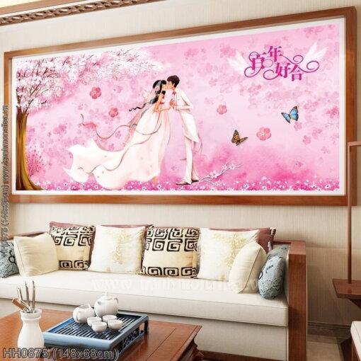 Tranh thêu kín Monalisa HH0875