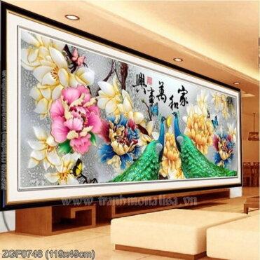 Tranh thêu kín Monalisa ZGF0748