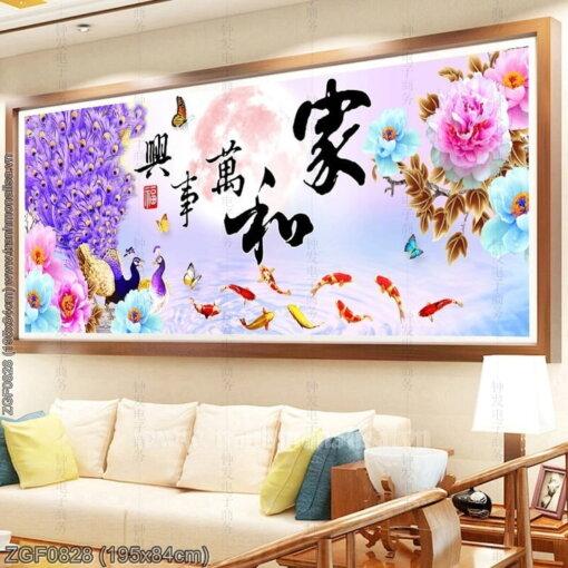 Tranh thêu kín Monalisa ZGF0828