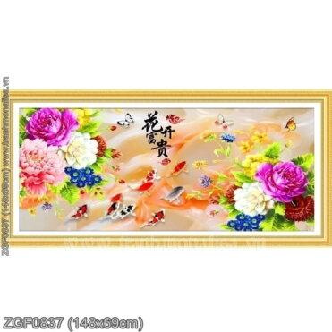 Tranh thêu kín Monalisa ZGF0837