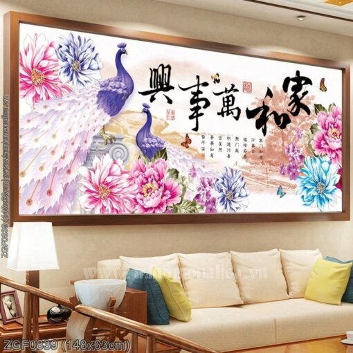 Tranh thêu kín Monalisa ZGF0839