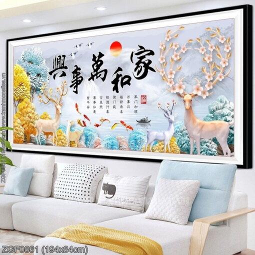 Tranh thêu kín Monalisa ZGF0861