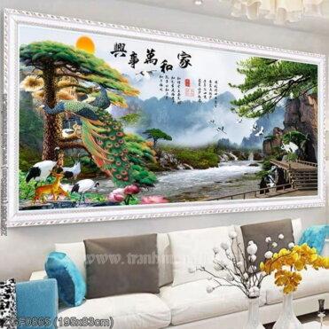 Tranh thêu kín Monalisa ZGF0865