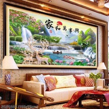 Tranh thêu kín Monalisa ZGF0867