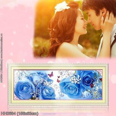 HH0684 Tranh Hương sắc tình yêu thêu kín kích thước trung bình