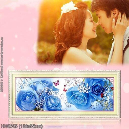 HH0685 Tranh thêu chữ thập Hương sắc tình yêu kích thước trung bình 133x55cm