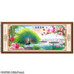 HH0790 Tranh thêu chữ thập Phú quý Cát tường kích thước trung bình 150x74cm