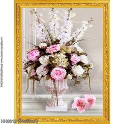 HH0813 Tranh thêu chữ thập Tĩnh vật hoa hồng kích thước siêu nhỏ 54x69cm