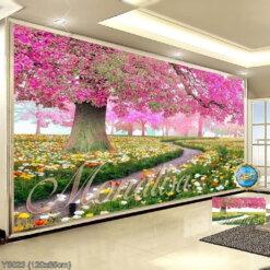 Y8023 Tranh đính đá Con đường tình yêu kích thước trung bình 120x65 cm