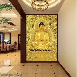 Y8094 Tranh đính đá Phật A di đà kích thước siêu nhỏ 50x70 cm