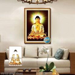 Y8105 Tranh đính đá Phật A di đà kích thước trung bình 80x110 cm