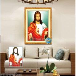 Y8155 Tranh đính đá Chúa Giêsu kích thước siêu nhỏ 50x70 cm