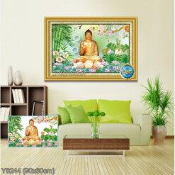 Y8244 Tranh đính đá Phật A di đà kích thước nhỏ 90x60 cm