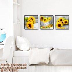 Tranh bộ 3 bức hoa hướng dương MN0148