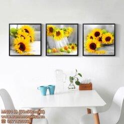 Tranh chữ thập hoa hướng dương đẹp treo phòng khách MN0148