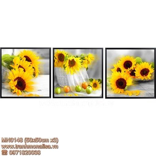 Tranh chữ thập thêu kín hoa hướng dương MN0148