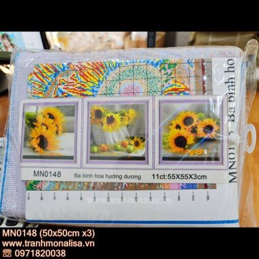 Tranh thêu chữ thập hoa hướng dương MN0148