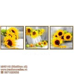 Tranh thêu kín hoa hướng dương MN0148