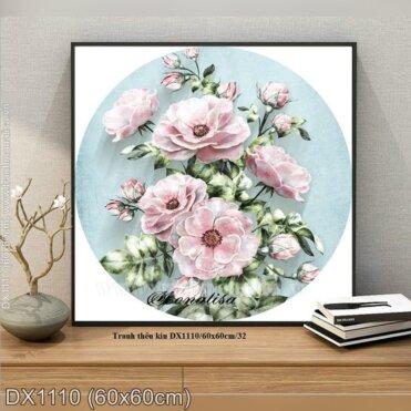 Tranh thêu Hoa hồng tím tình yêu (DX1110)