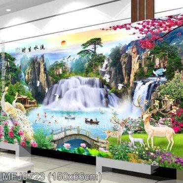 Tranh thêu Lưu thủy sinh tài (MFJ0723)