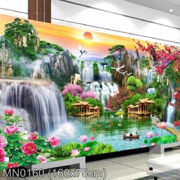 Tranh thêu Thiên nhiên hùng vỹ (MN0160)
