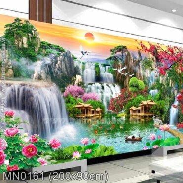 Tranh thêu Phong cảnh Thiên nhiên hùng vỹ (MN0161)