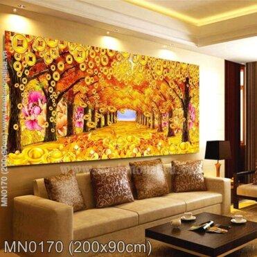 Tranh thêu Con đường hoàng kim (MN0170)