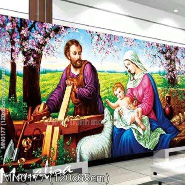 Tranh thêu Gia đình chúa giesu (MN0177)