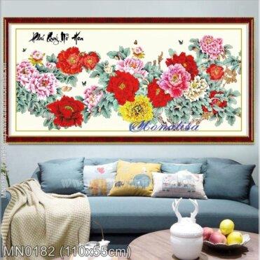 Tranh thêu Phú quý nở hoa (MN0182)
