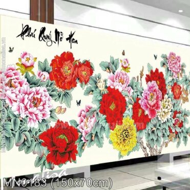 Tranh thêu Phú quý nở hoa (MN0183)