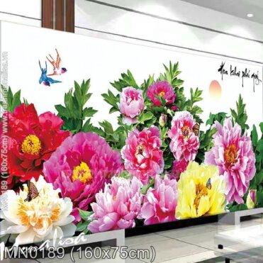 Tranh thêu Hoa khai phú quý (MN0189)