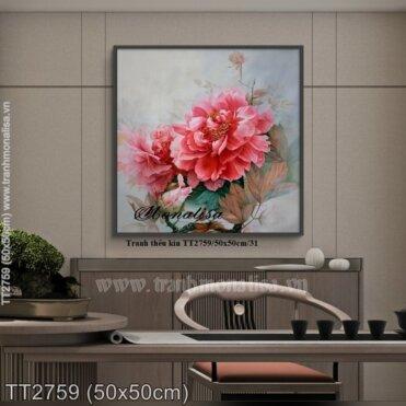 Tranh thêu Hoa Mẫu Đơn (TT2759)