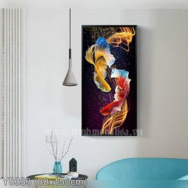 Tranh đính đá Đôi cá Betta (Y8333)