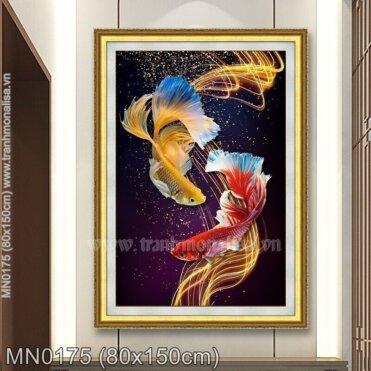Tranh thêu Vũ điệu cá Betta (MN0175)